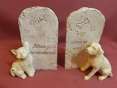 MEMORIAL PLAQUE for CAT or DOG* NEW *POLY-RESIN* 17cm