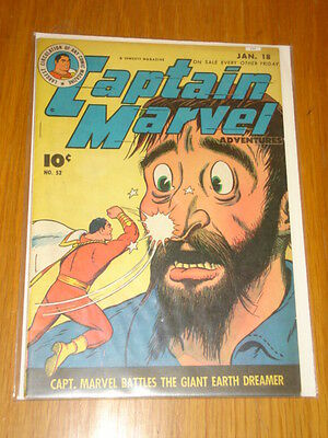 Captain Marvel Adventures #52 Fn (6.0) 1946 January 18Th Fawcett*