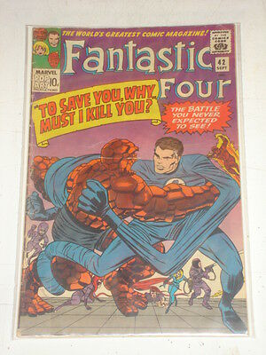 Fantastic Four #42 Vg- (3.5) September 1965 Jack Kirby*