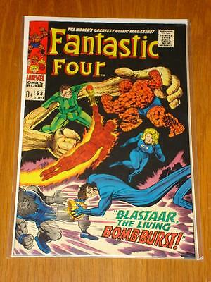 Fantastic Four #63 Marvel Comic June 1967 Fn/Vf (7.0) *