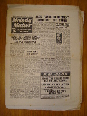 Melody Maker 1946 Apr 6 Jack Payne Sid Gross Harry Roy