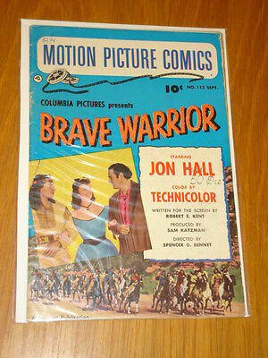 Motion Picture Comics #112 Brave Warrior Vg+ (4.5) 1952 September Fawcett*