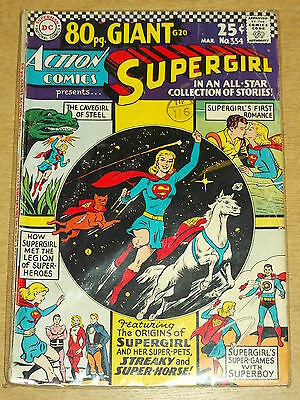 Action Comics #334 Vg- (3.5) Dc Superman 80 Page Giant March 1966