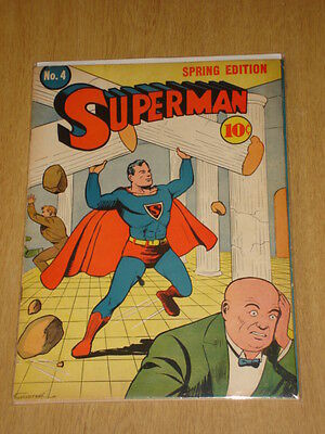 Superman #4 Fn- (5.5) 1St Bald Luther Dc Comics*