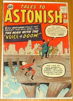 Tales To Astonish #42 Vg (4.0) Marvel Comics Ant-Man Avengers April 1963*