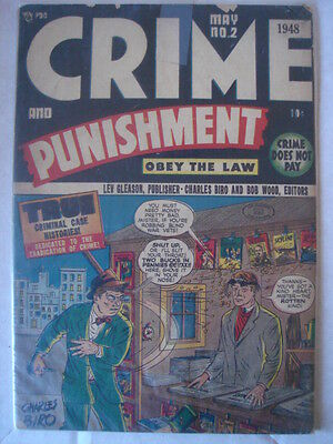 Crime And Punishment #2 Vg (4.0) Golden Age Lev Gleason