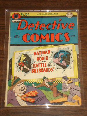 Detective Comics #104 Vg (4.0) Dc Comics Batman October 1945<