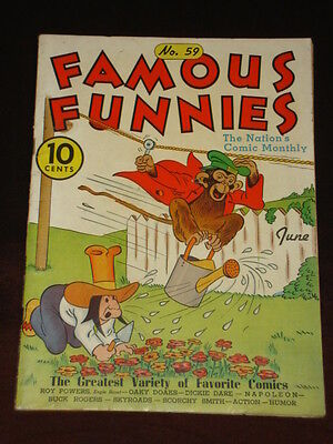 Famous Funnies #59 Fn- (5.5) Eastern Golden Age Comic