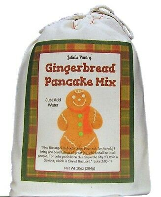 Julia's Pantry Ginger Bread Pancake Mix, 10 Ounce