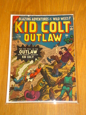 Kid Colt Outlaw #20 G/vg (3.0) Marvel Atlas 1952