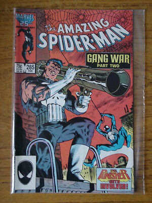 Spiderman Amazing #285 Vf+ (8.5) Comic Punisher