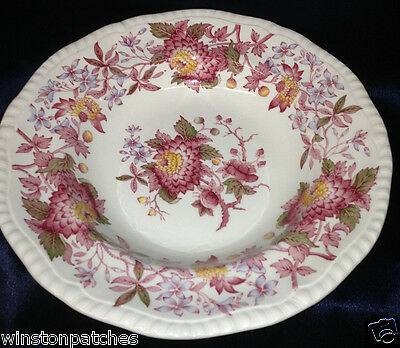"""Copeland Spode Aster Gadroon Large Rim Soup Bowl 9 1/4"""" Red & Blue Flowers"""