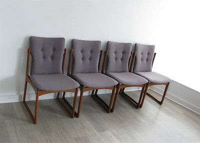 1960s SET OF 4 SOLID TEAK DANISH DINING CHAIRS VAMDRUP STOLEFABRIK retro heals