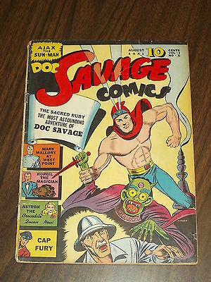 Doc Savage Comics #5 Vg- (3.5) Smith And Street Golden Age August 1941