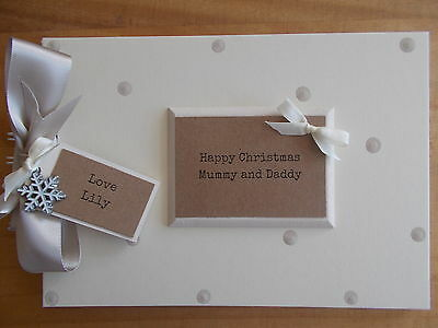 Personalised 1St Christmas Mummy And Daddy Memory Book Scrapbook Any Wording