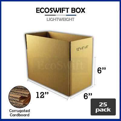 25 12x6x6 Cardboard Packing Mailing Moving Shipping Boxes Corrugated Box Cartons