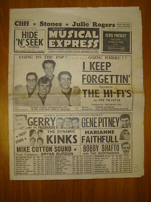 Nme #929 1964 Oct 30 Hi-Fi's Kinks Cliff Rolling Stones
