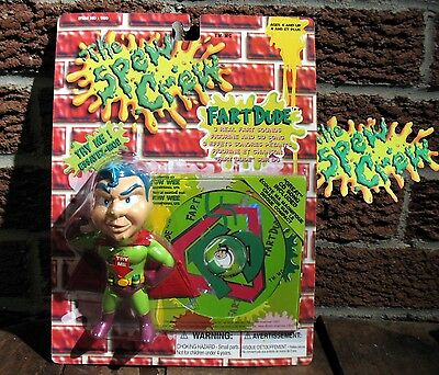 Ultra RARE Nos Moc The Spew Crew action figure toy Fart Dude hero  Wow wee inc
