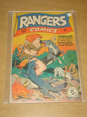Rangers Comics #40 Vg+ (4.5) Fiction House Comics April 1948