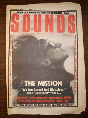 Sounds 1986 Nov 29 The Mission Dead Kennedys Madness