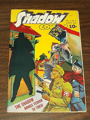Shadow Comics Vol 4 #5 Fn (6.0) Street & Smith August 1944
