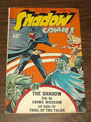 Shadow Comics Vol 5 #7 Fn- (5.5) Street & Smith October 1945