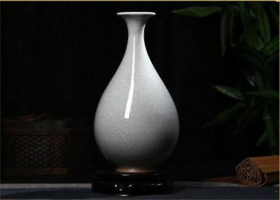 Exquisite Chinese Archaize Jun Porcelain Handmade Cutting Ice Crack Vase  Aa