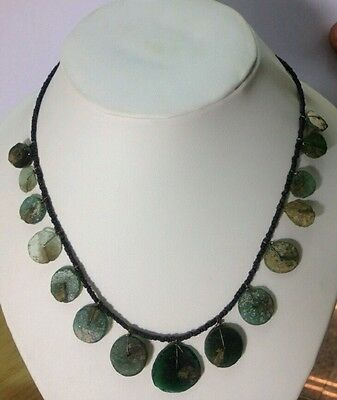 Afghan Roman Glass Medium Strand Beads Necklace Antique Ancient Old