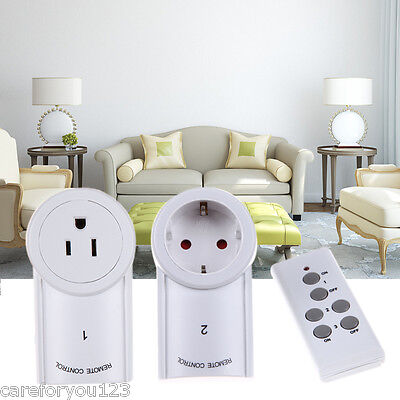3 Pack Wireless Remote Control Outlet Electrical Power Light Plug Switch Socket