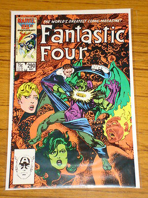 Fantastic Four #290 Vol1 Marvel Comics Byrne Art May 1986