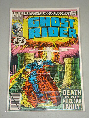 Ghost Rider #40 Vol 1 Marvel Comics January 1980