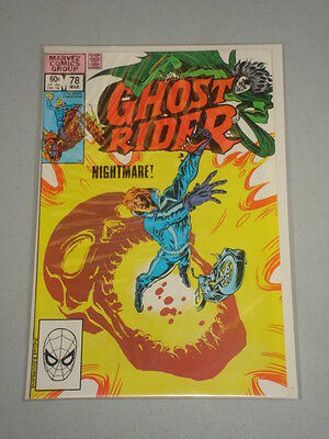 Ghost Rider #78 Vol 1 Marvel Comics Son Of Satan March 1983