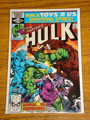 Incredible Hulk #252 Vol1 Marvel Comics October 1980