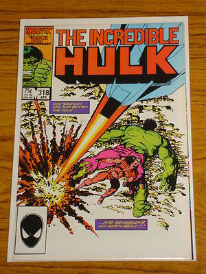 Incredible Hulk #318 Vol1 Marvel Comics Doc Samson Grey Hulk Apps April 1986