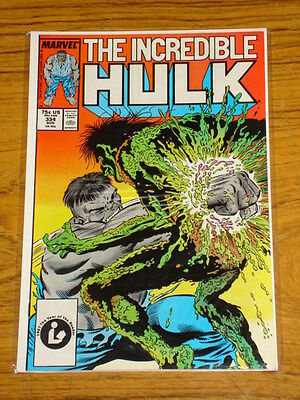 Incredible Hulk #334 Vol1 Marvel Comics Mcfarlane August 1987