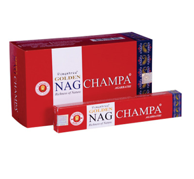 Golden Nag Champa Agarbathi Incense Pack Of 12-293012
