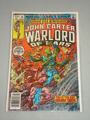 John Carter Warlord Of Mars #14 Vol 1 Marvel July 1978