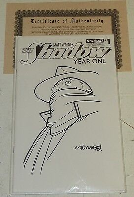Shadow Year One Original Art Edition Signed Torres #1 Dynamite Variant Nm (9.4)