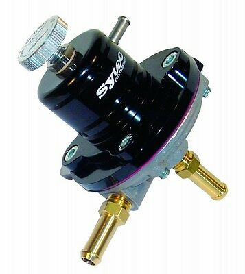 FSE SYTEC SAR Regulator 1:1 (Black) fuel pressure reg 8mm Tails SAR001BK