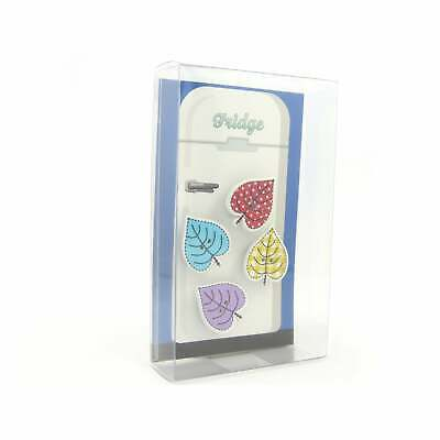 Leaf Fridge Magnets cute strong neodymium painted wood - 4 gift boxed