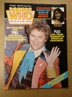 Doctor Who #96 1985 Jan British Weekly Monthly Magazine Dr Who Dalek Cybermen