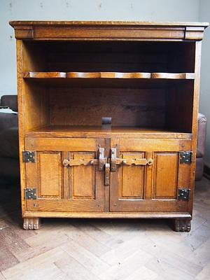 A Stunning Vintage High Quality Monastic Woodcraft Solid Oak Cabinet/Cupboard