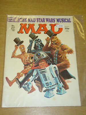 Mad Magazine #202 1979 Feb Vf Thorpe And Porter Uk Magazine Star Wars