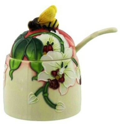 Old Tupton Ware Morning Orchid 'HONEY POT'  NEW in Gift Box Collectable Giftware