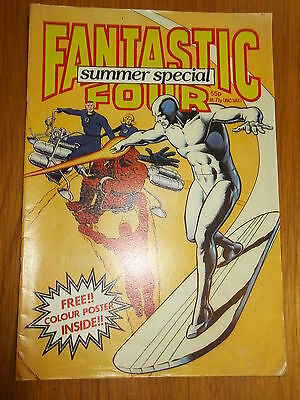 Fantastic Four Marvel British Weekly Summer Special 1982 Silver Surfer Rare (A)^