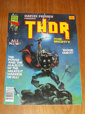 Marvel Preview Presents #10 Thor Vf (8.0) July 1977 Us Magazine<~