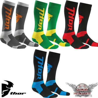 Thor Motocross Socken Lang Cross Offroad Enduro Mx Mtb Atv Quad Strümpfe Socks