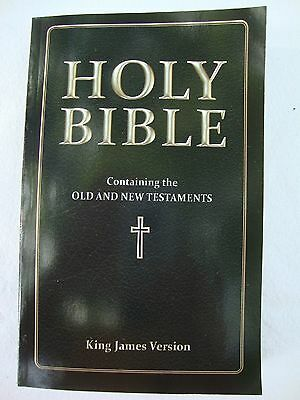 NEW The Holy Bible Old & New Testament's KJV King James Version Black Minerva