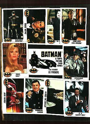 1989 Topps Batman Series 1 Trading Card Set (132) Cards Nm/Mt