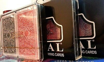 18 Sets Double Decks Playing Cards Royal Brand Washable 100% Plastic (36 Decks)